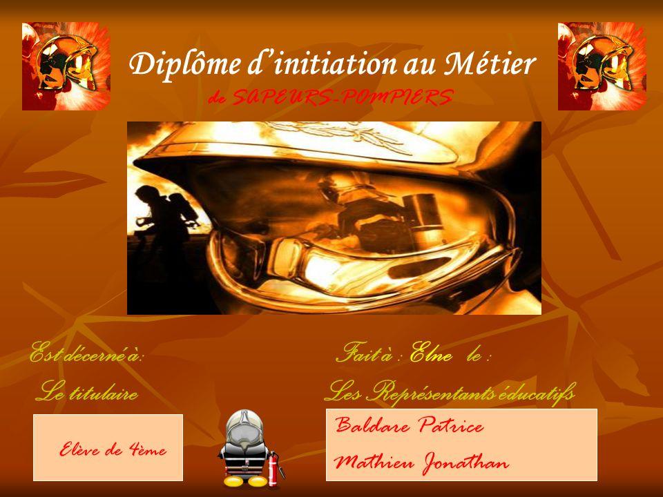 Diplôme d'initiation au Métier