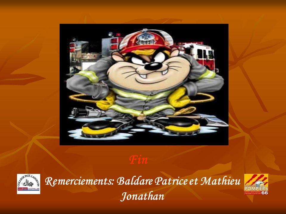 Remerciements: Baldare Patrice et Mathieu Jonathan