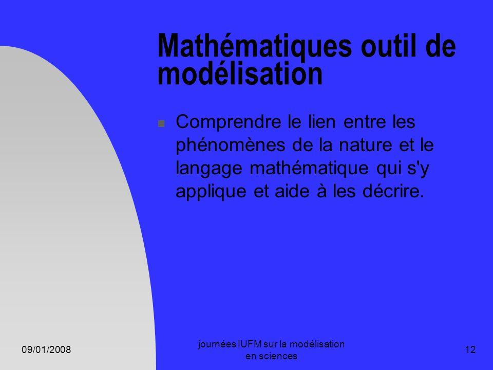 Mathématiques outil de modélisation