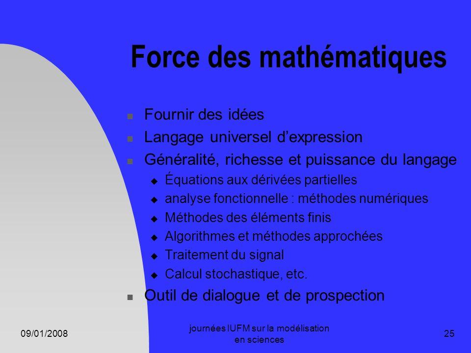Force des mathématiques