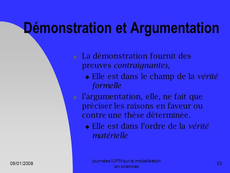 Démonstration et Argumentation