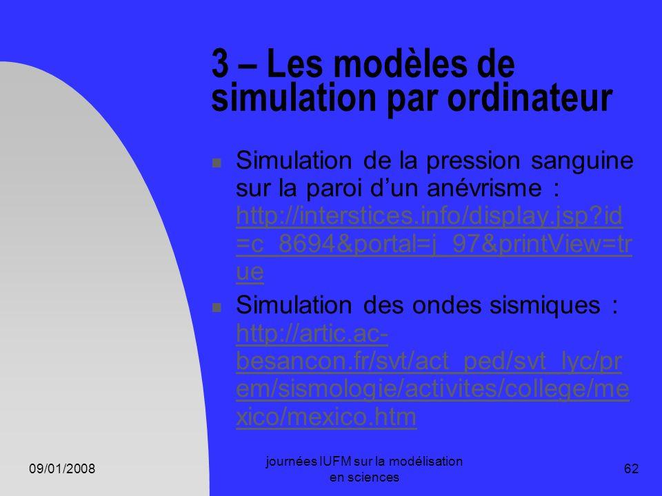 3 – Les modèles de simulation par ordinateur