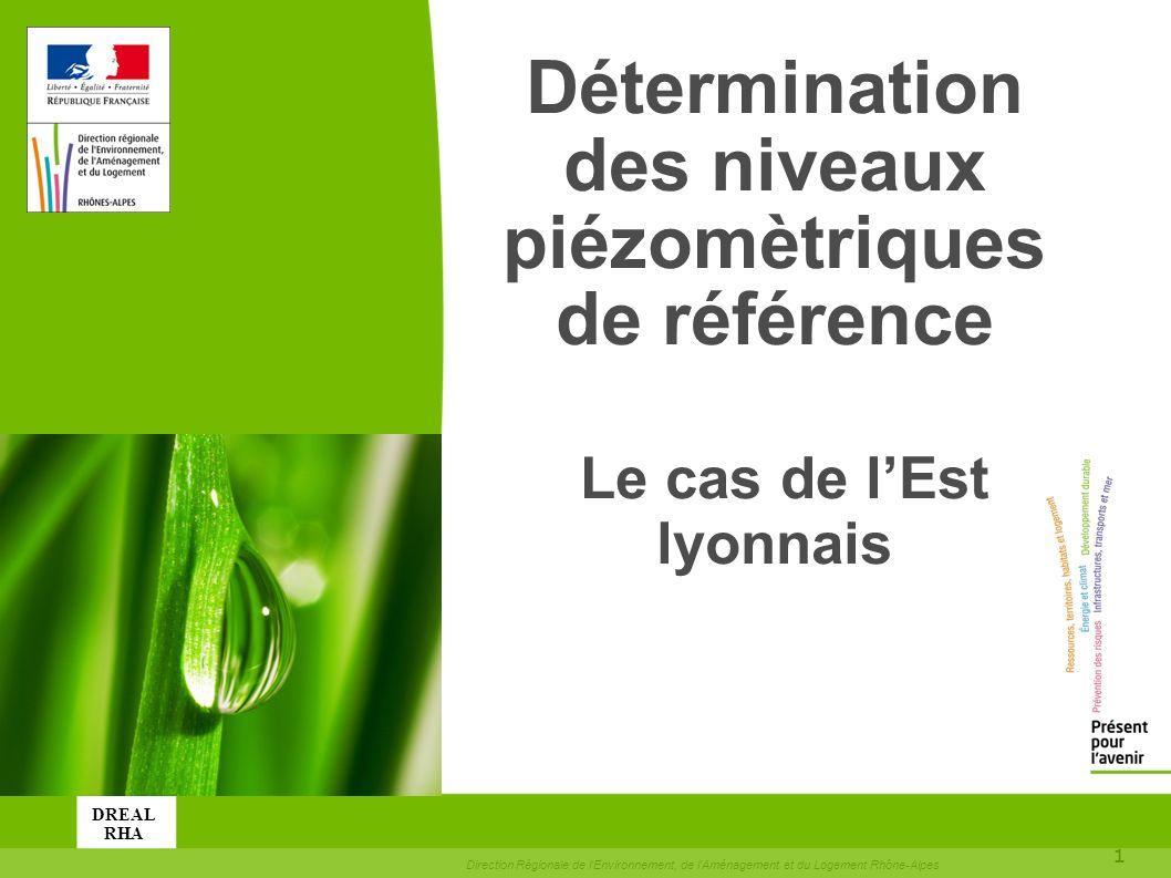 toitototototoot Détermination des niveaux piézomètriques de référence Le cas de l'Est lyonnais. DREAL.