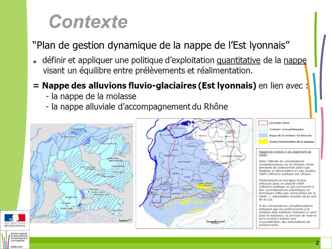 Contexte Plan de gestion dynamique de la nappe de l'Est lyonnais