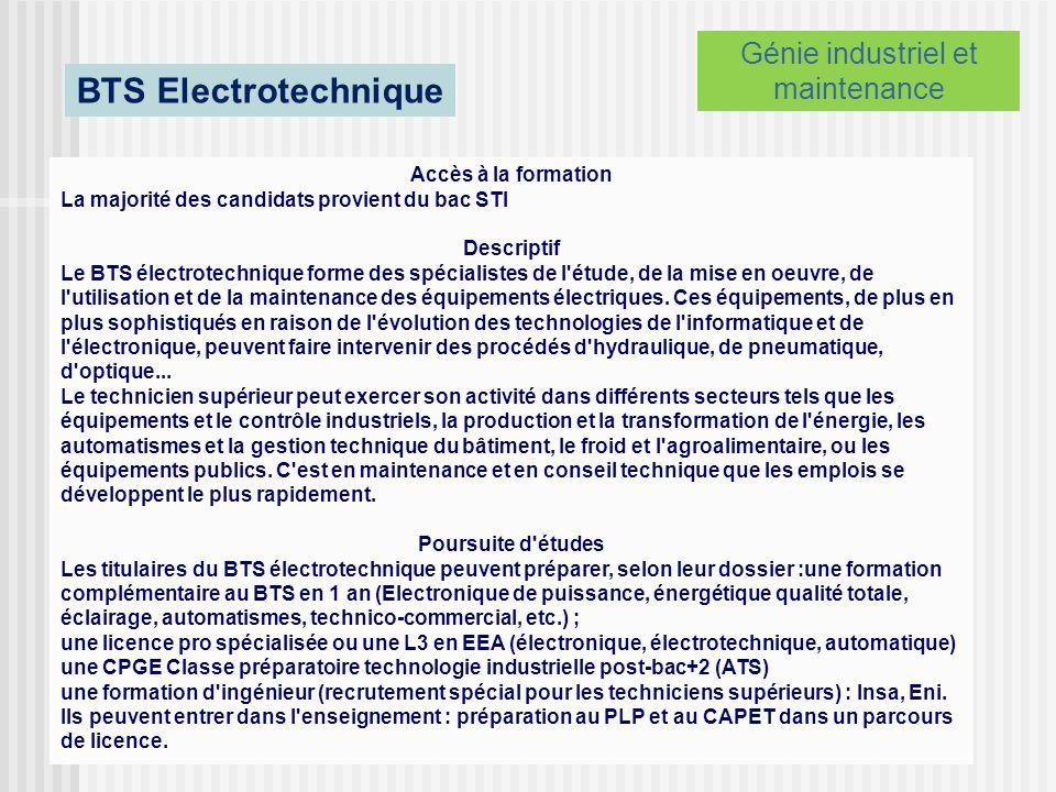 Génie industriel et maintenance
