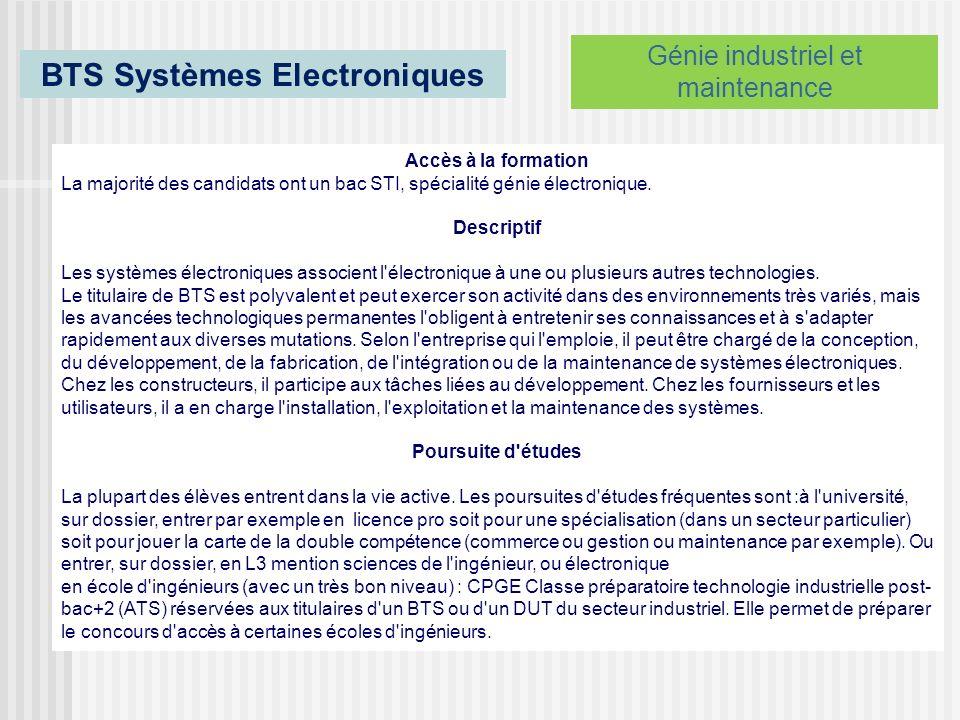 BTS Systèmes Electroniques