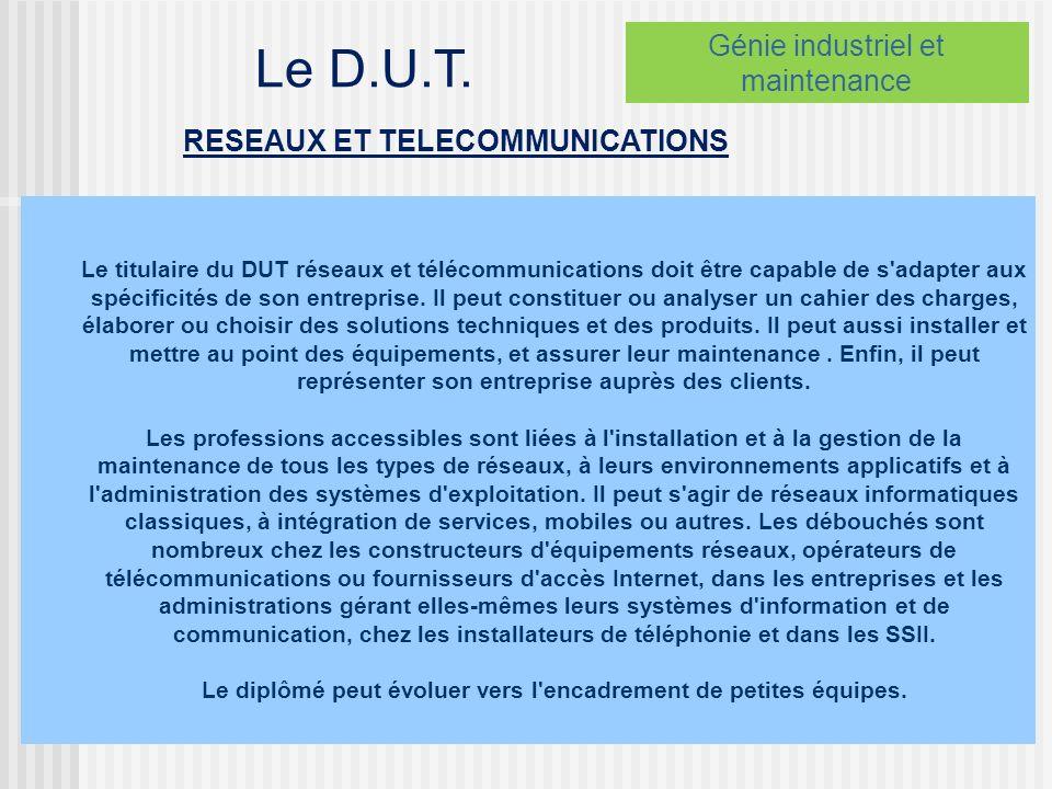 RESEAUX ET TELECOMMUNICATIONS