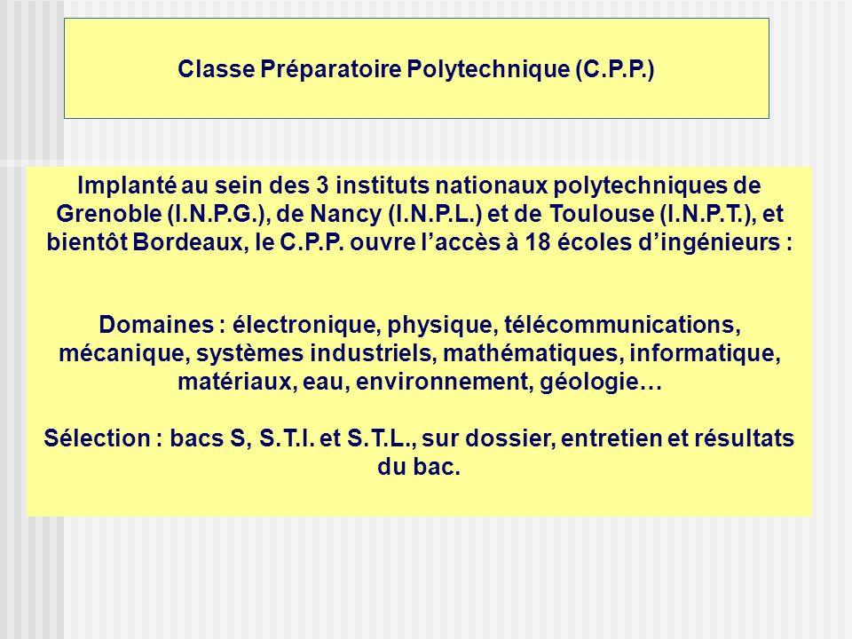 Classe Préparatoire Polytechnique (C.P.P.)