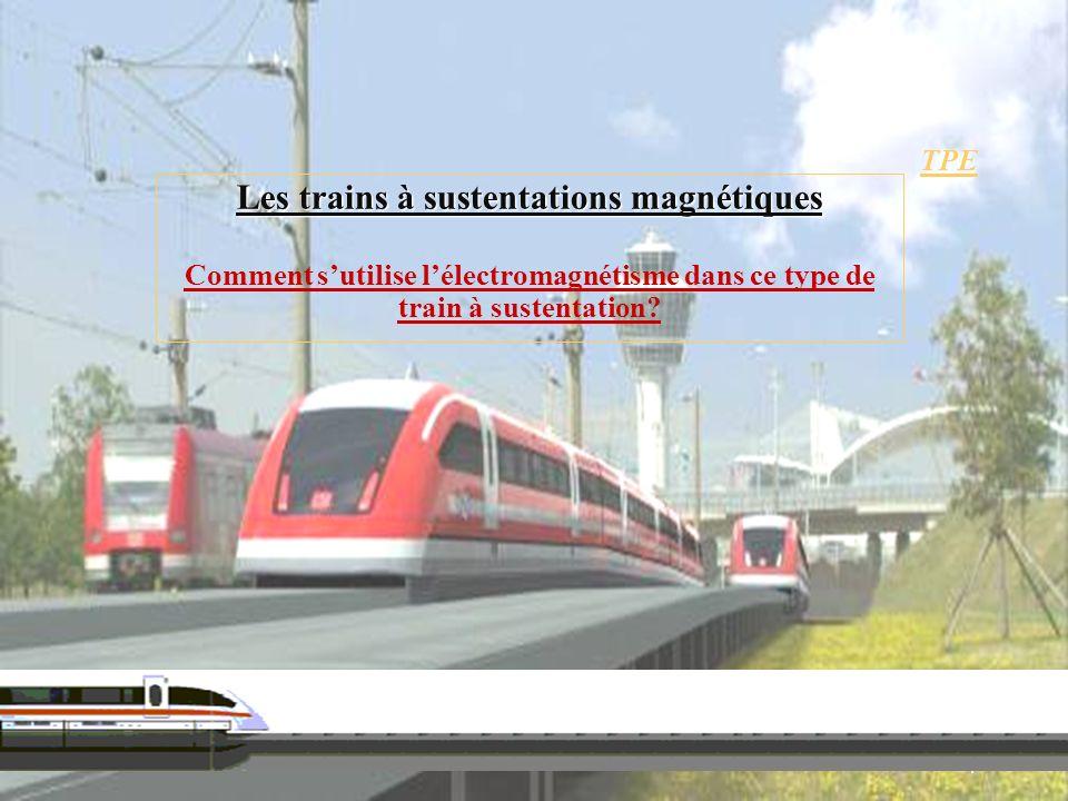 Les trains à sustentations magnétiques