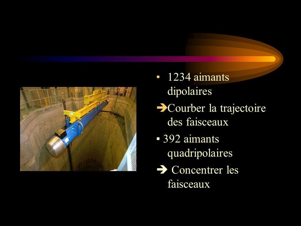 1234 aimants dipolaires Courber la trajectoire des faisceaux.