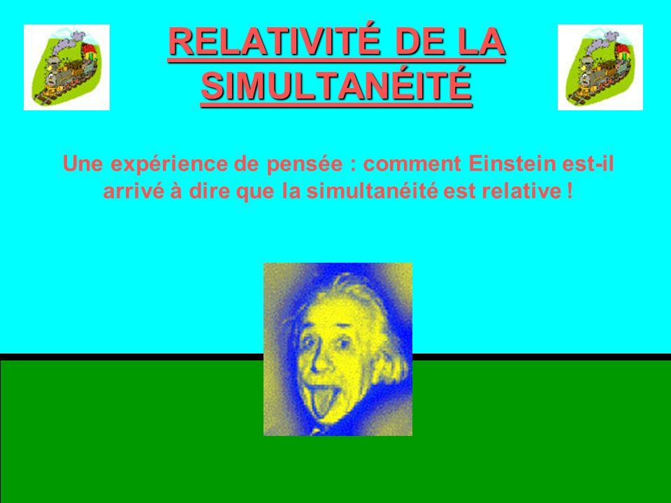 RELATIVITÉ DE LA SIMULTANÉITÉ
