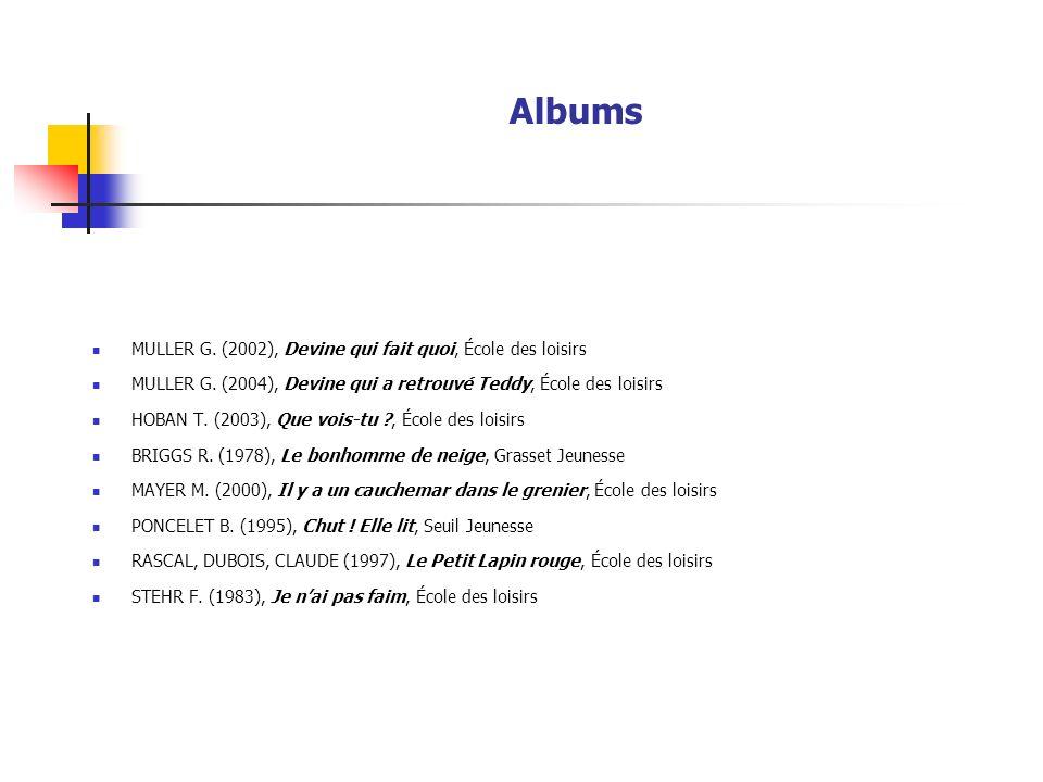 Albums MULLER G. (2002), Devine qui fait quoi, École des loisirs