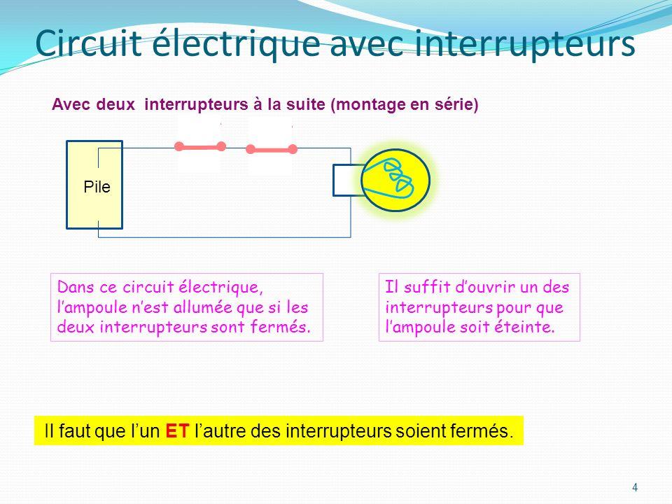 Circuit électrique avec interrupteurs