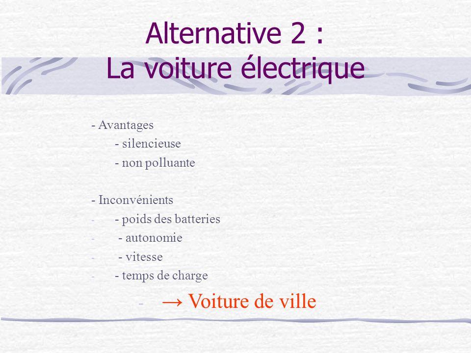 Alternative 2 : La voiture électrique