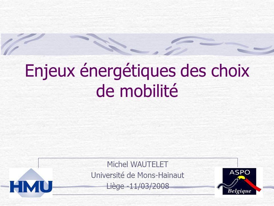 Enjeux énergétiques des choix de mobilité