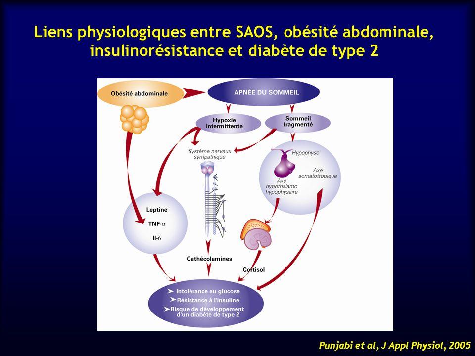 Liens physiologiques entre SAOS, obésité abdominale, insulinorésistance et diabète de type 2
