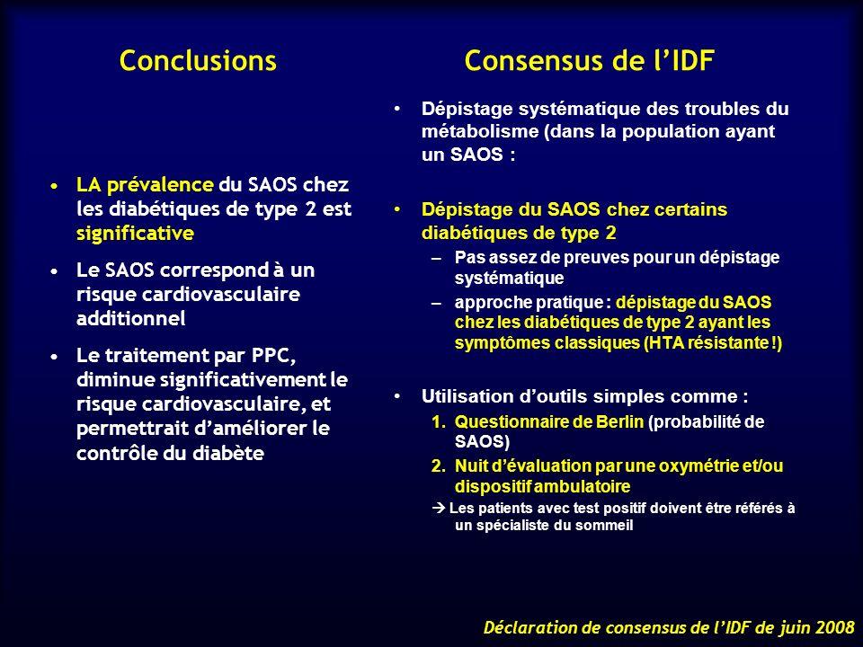 Conclusions Consensus de l'IDF