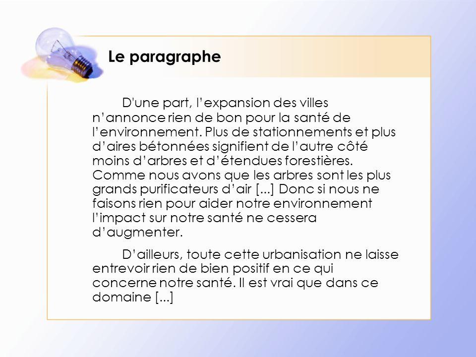 Le paragraphe