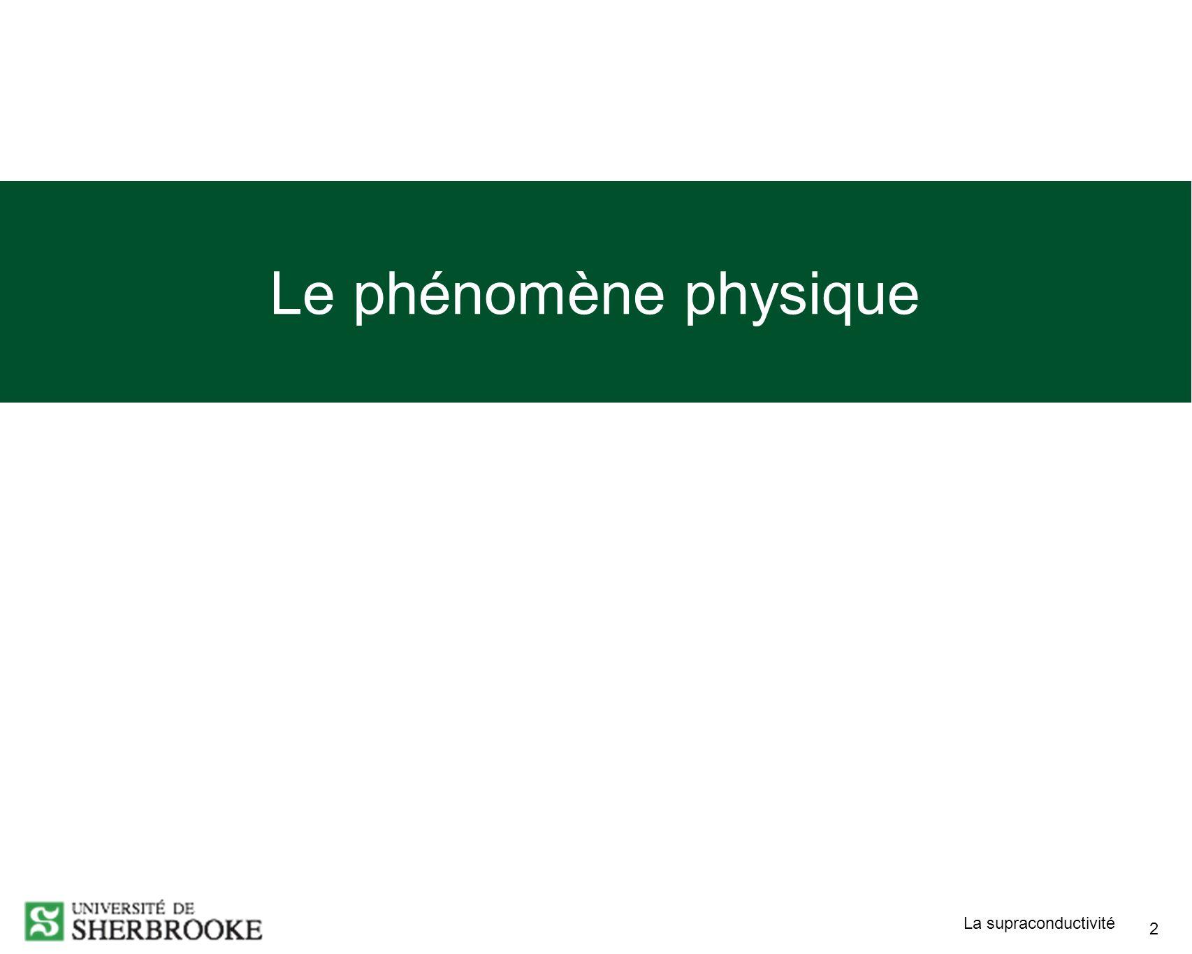 Le phénomène physique