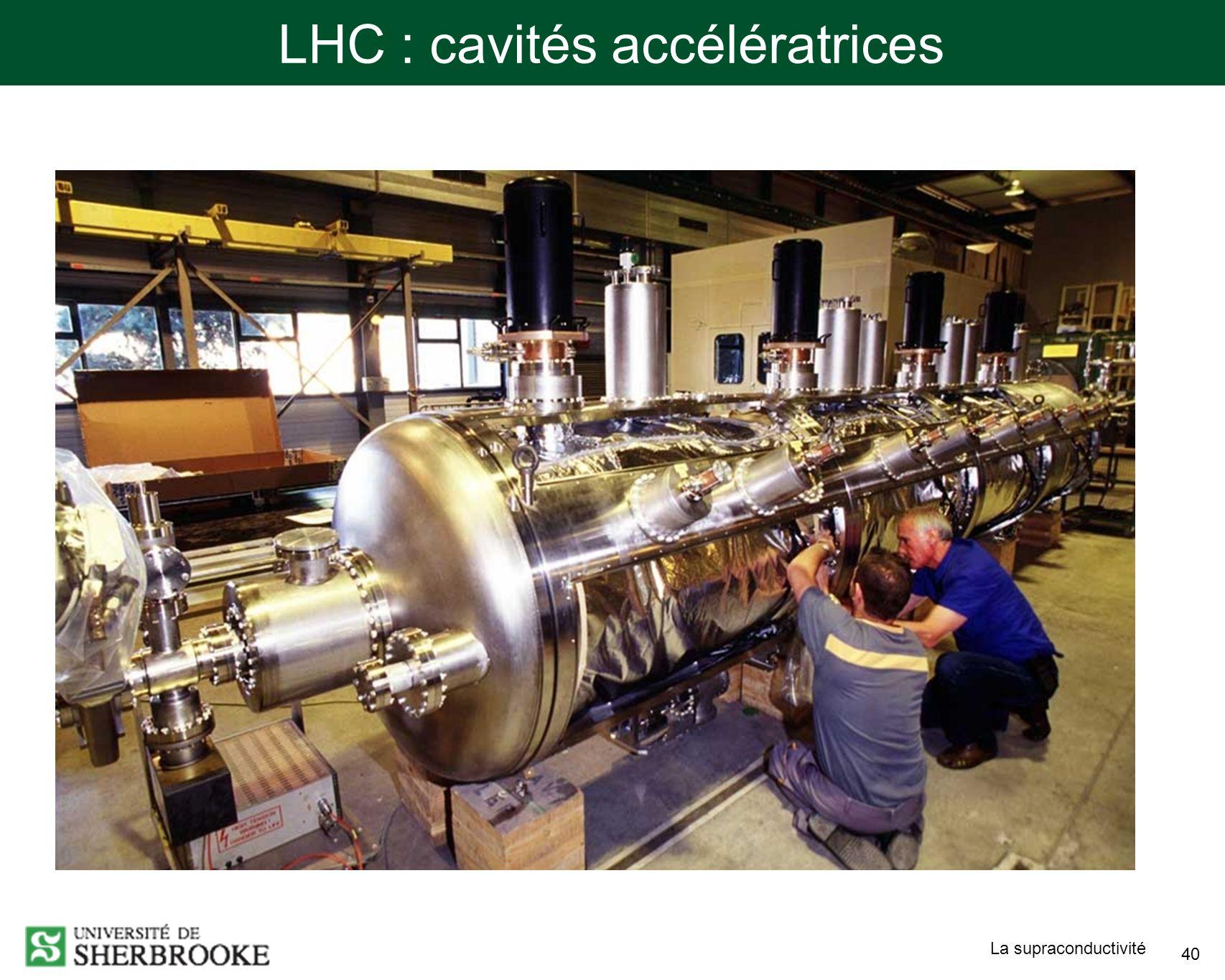 LHC : cavités accélératrices