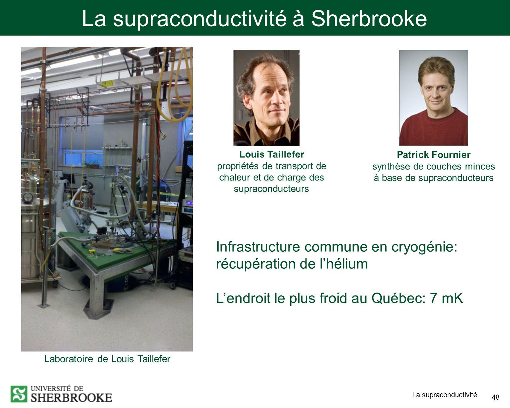 La supraconductivité à Sherbrooke