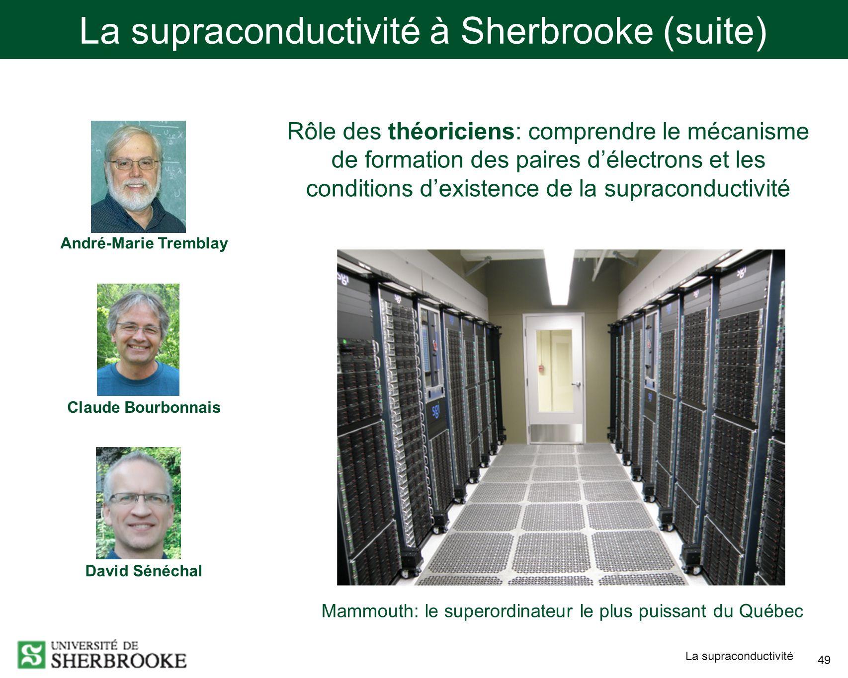 La supraconductivité à Sherbrooke (suite)
