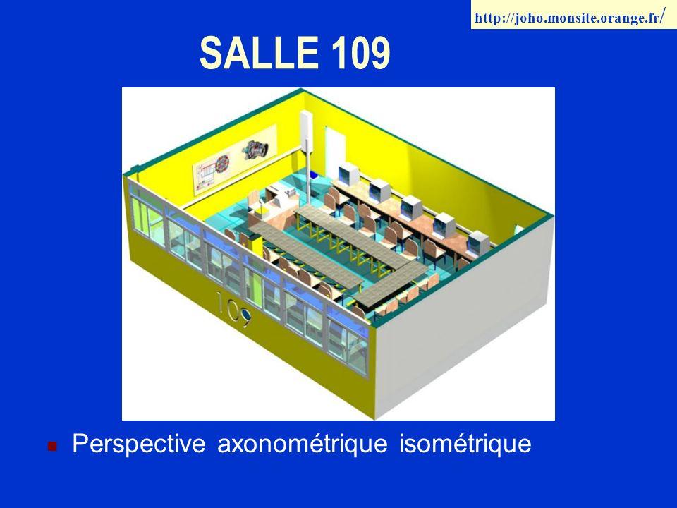 SALLE 109 Perspective axonométrique isométrique