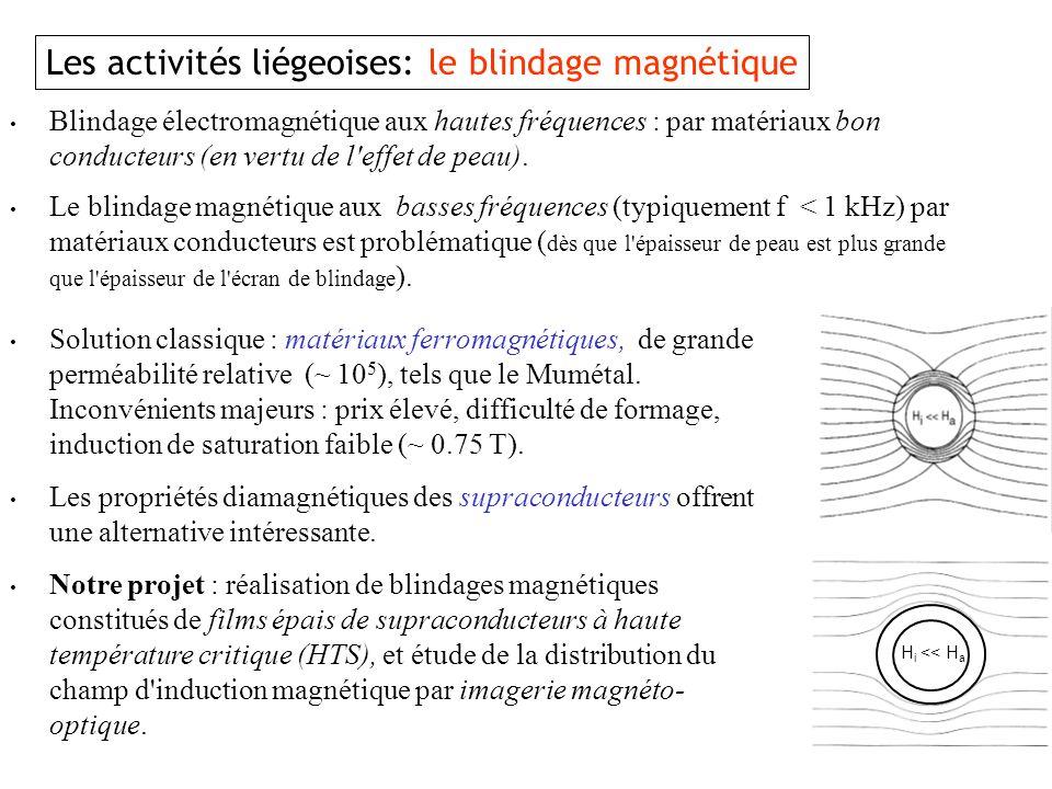 Les activités liégeoises: le blindage magnétique