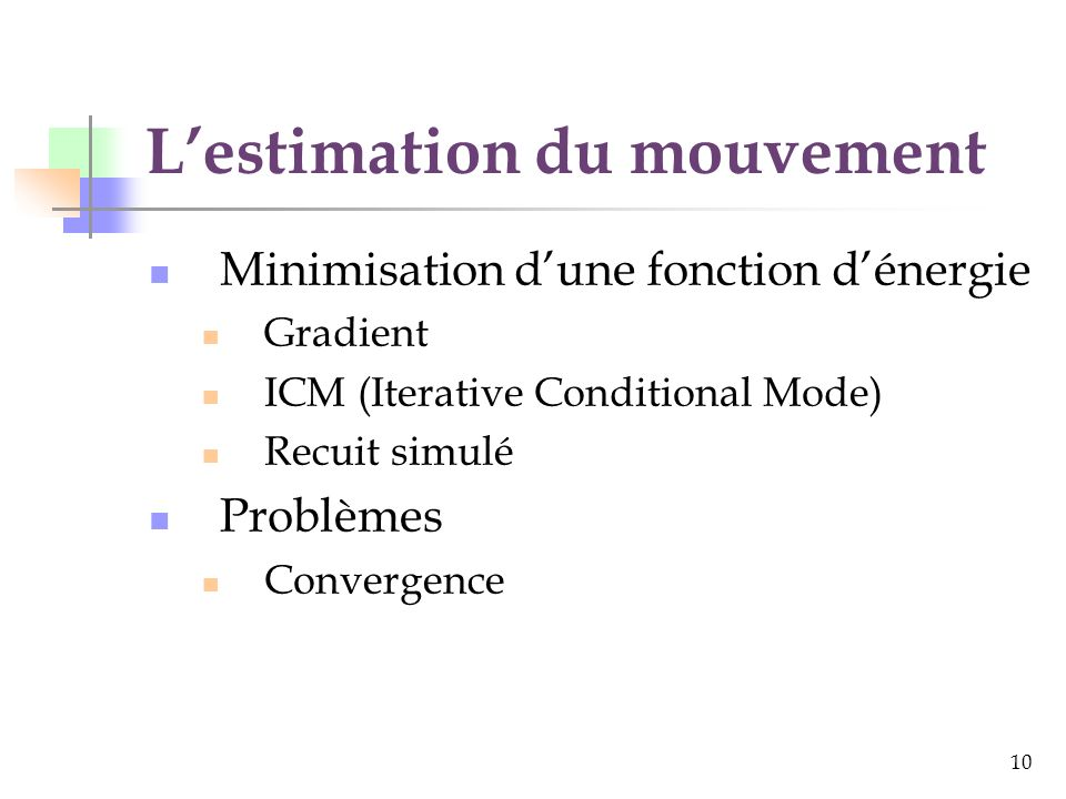L'estimation du mouvement