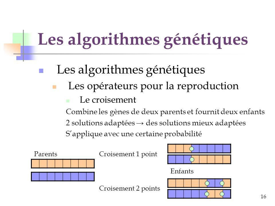 Les algorithmes génétiques