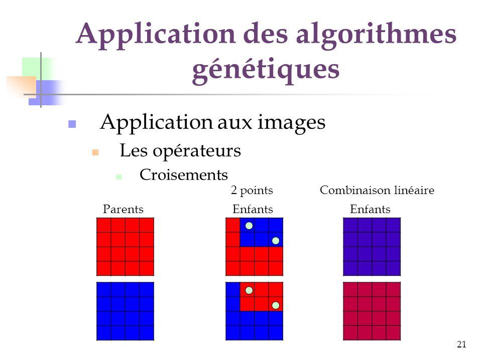 Application des algorithmes génétiques