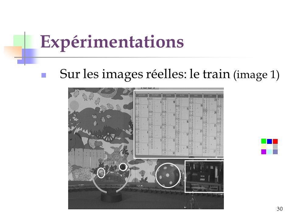 Expérimentations Sur les images réelles: le train (image 1)