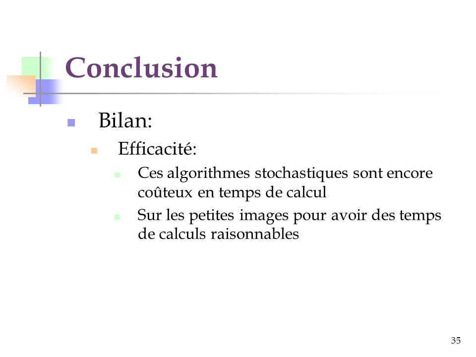 Conclusion Bilan: Efficacité: