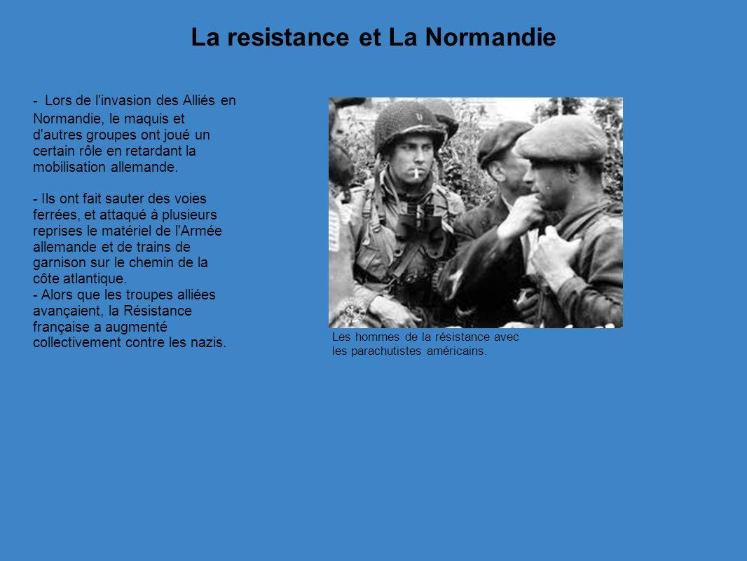 La resistance et La Normandie