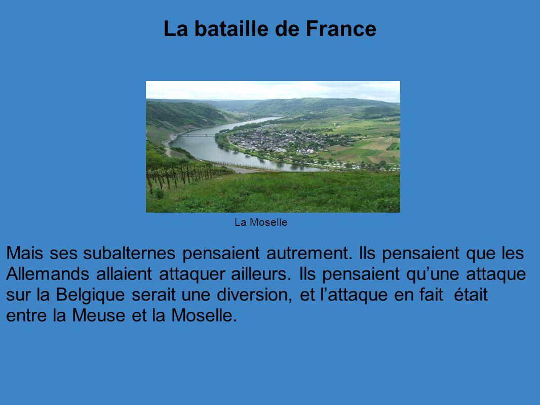 La bataille de France La Moselle.