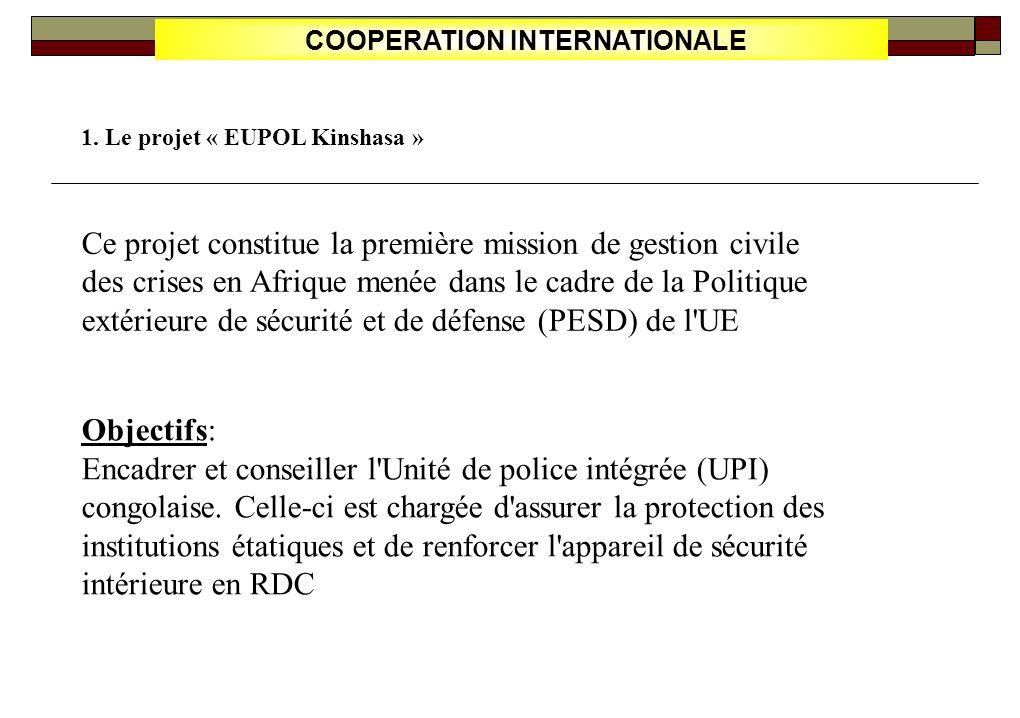 COOPERATION INTERNATIONALE