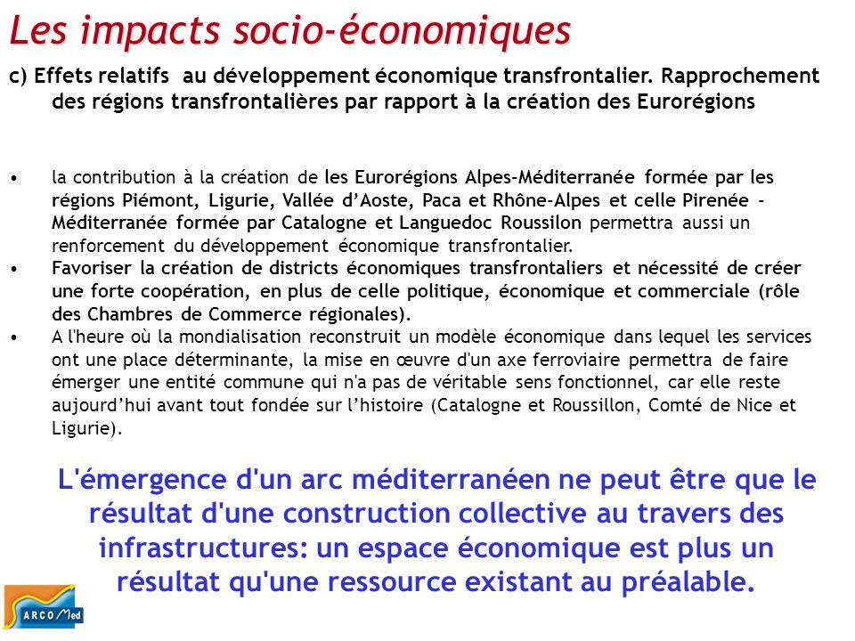 Les impacts socio-économiques
