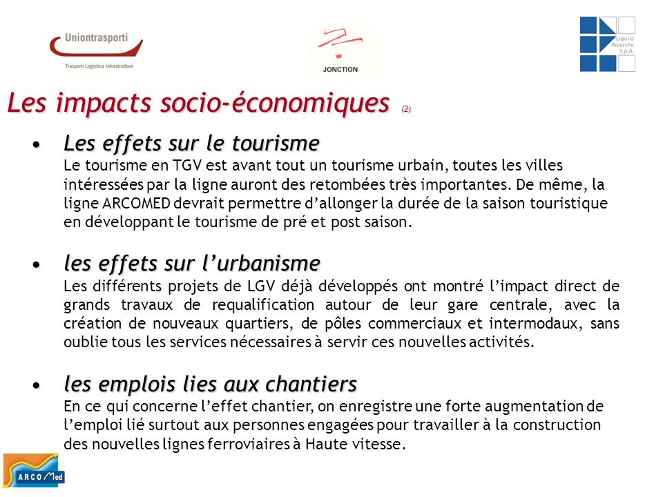 Les impacts socio-économiques (2)