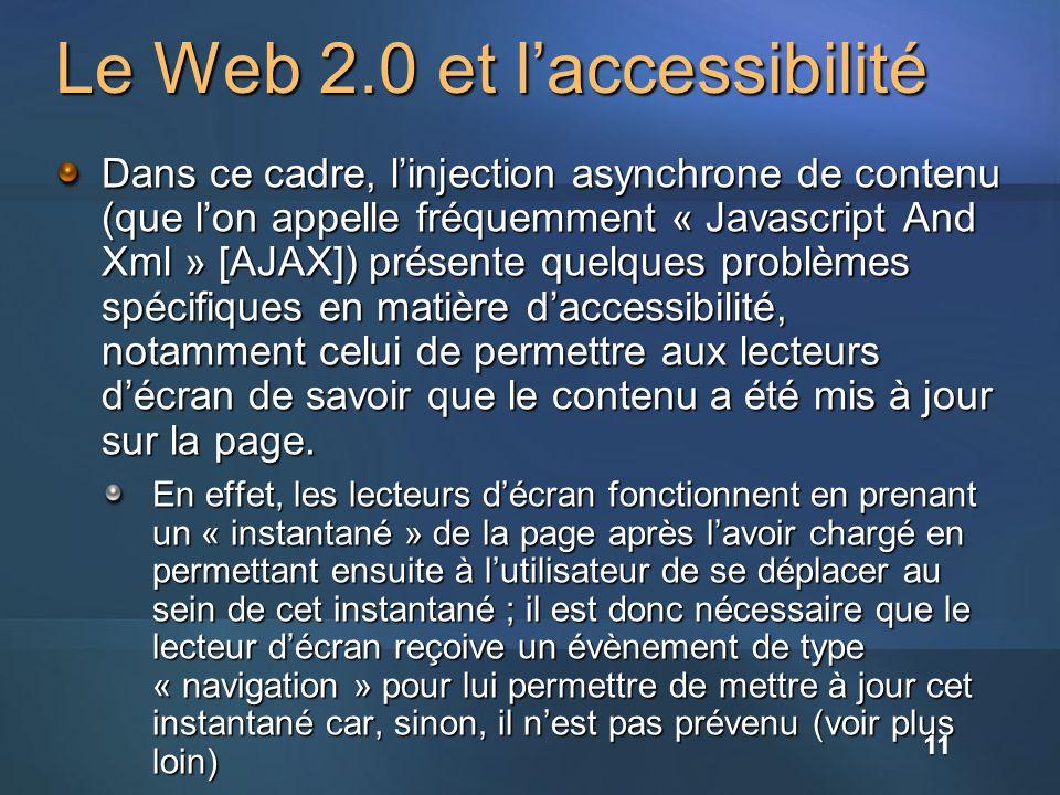 Le Web 2.0 et l'accessibilité