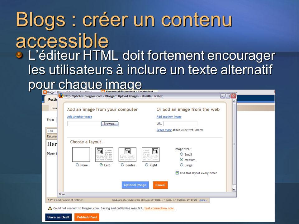 Blogs : créer un contenu accessible