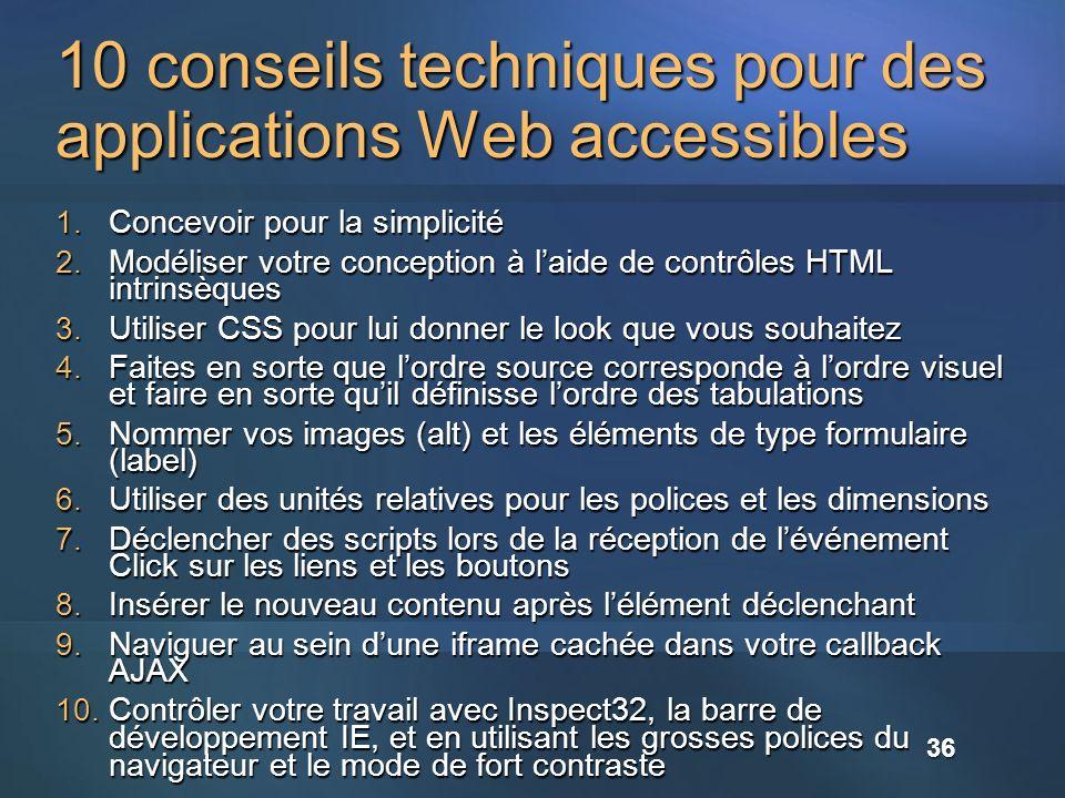 10 conseils techniques pour des applications Web accessibles