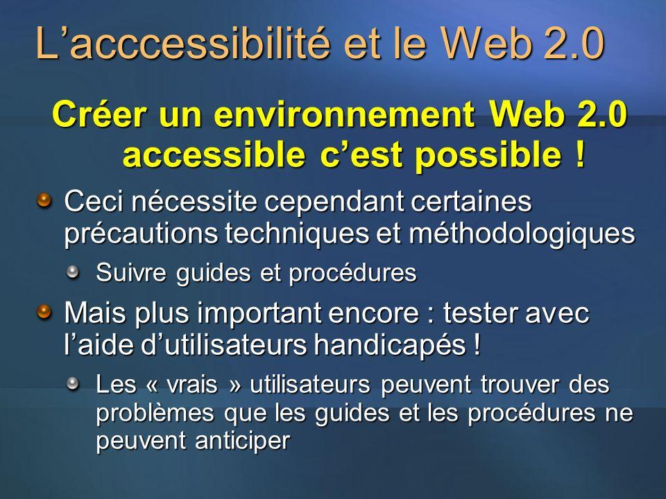 L'acccessibilité et le Web 2.0
