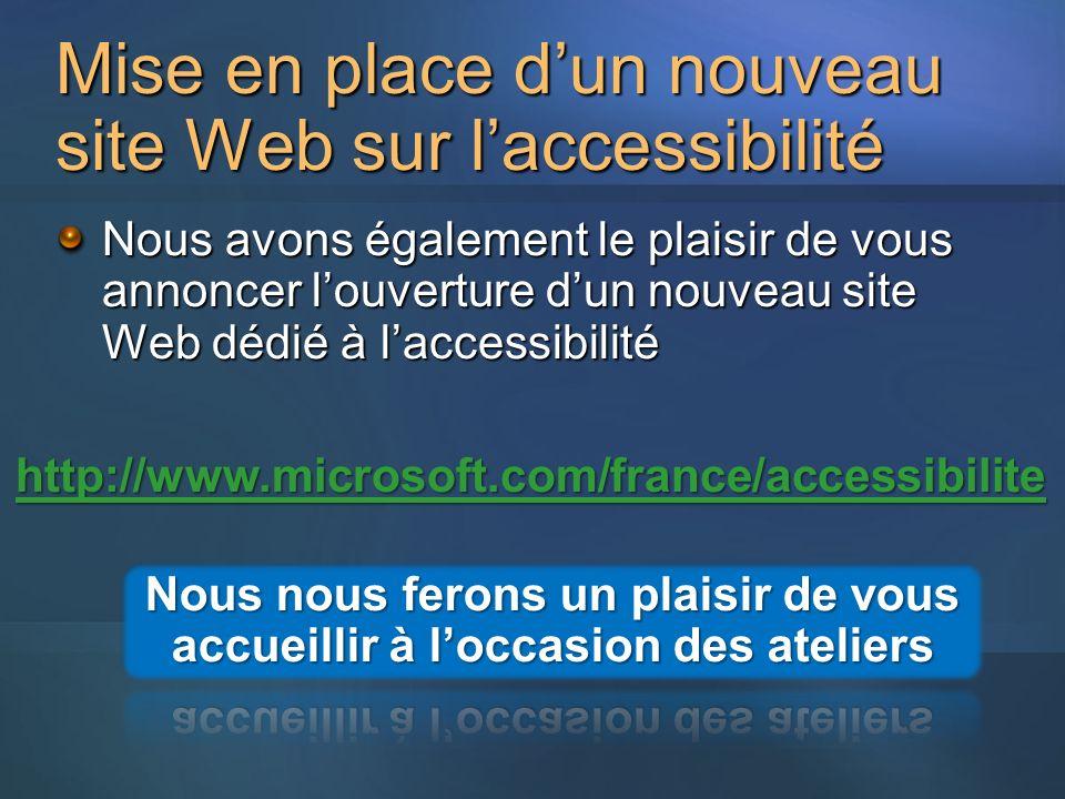 Mise en place d'un nouveau site Web sur l'accessibilité