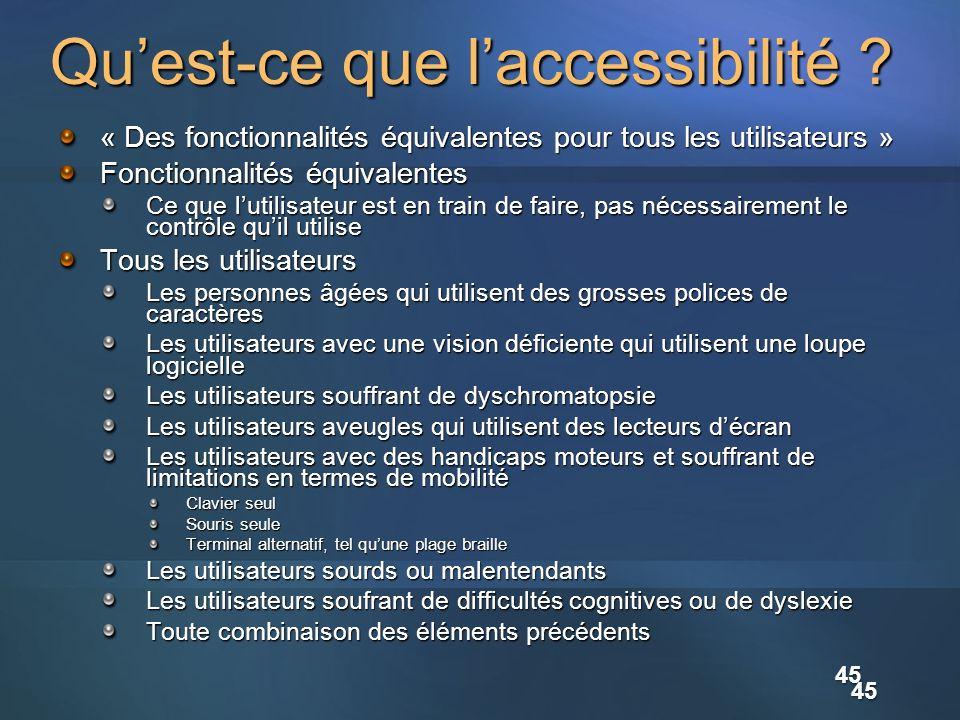 Qu'est-ce que l'accessibilité