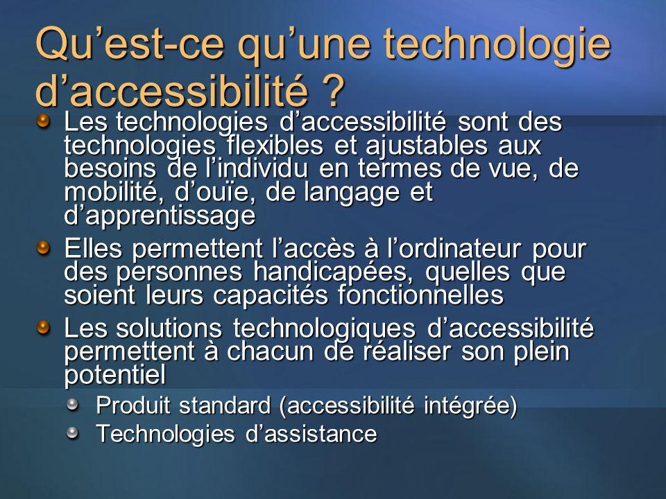 Qu'est-ce qu'une technologie d'accessibilité