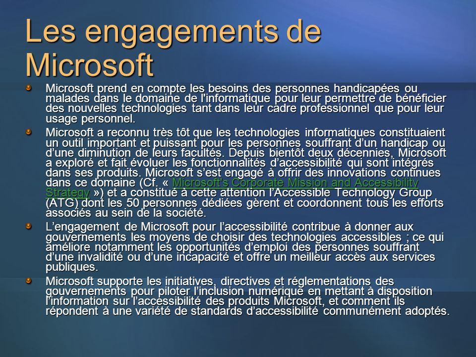 Les engagements de Microsoft