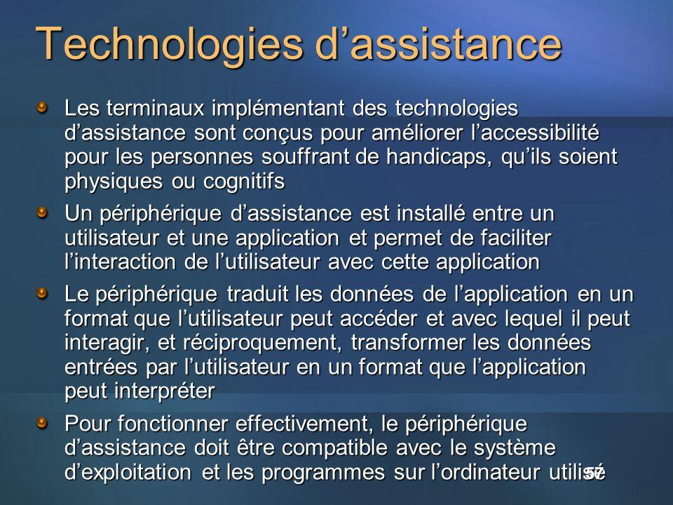 Technologies d'assistance