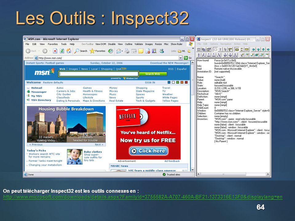 Les Outils : Inspect32
