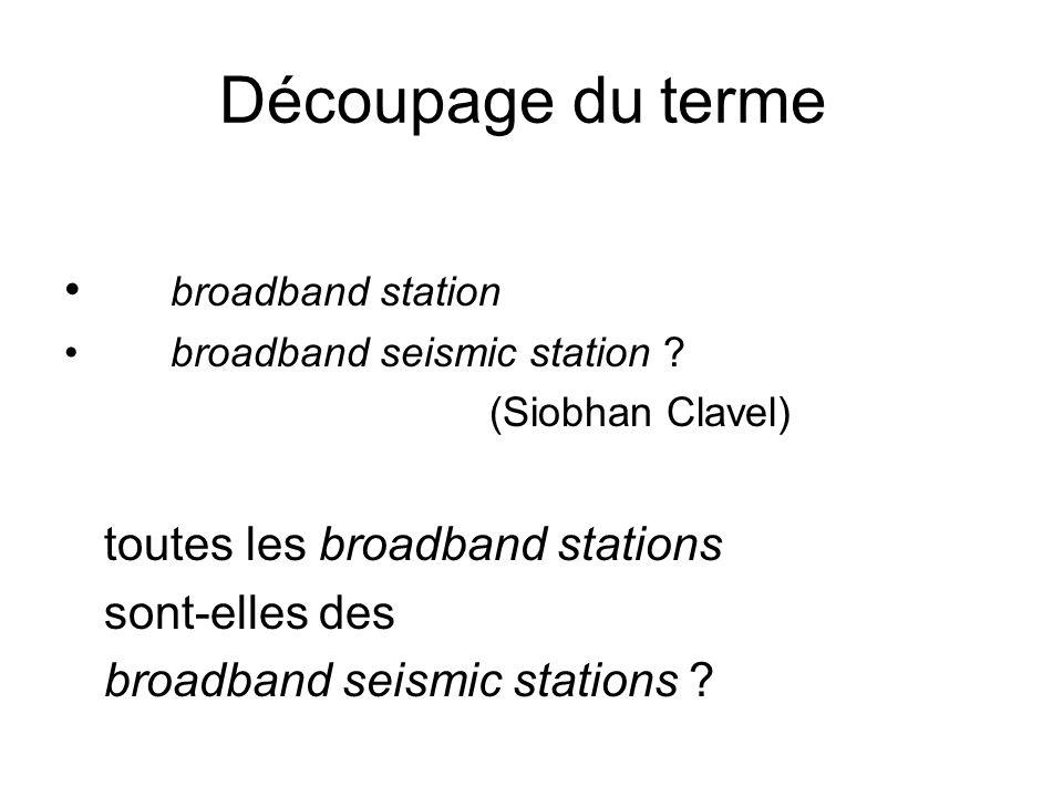 Découpage du terme broadband station toutes les broadband stations