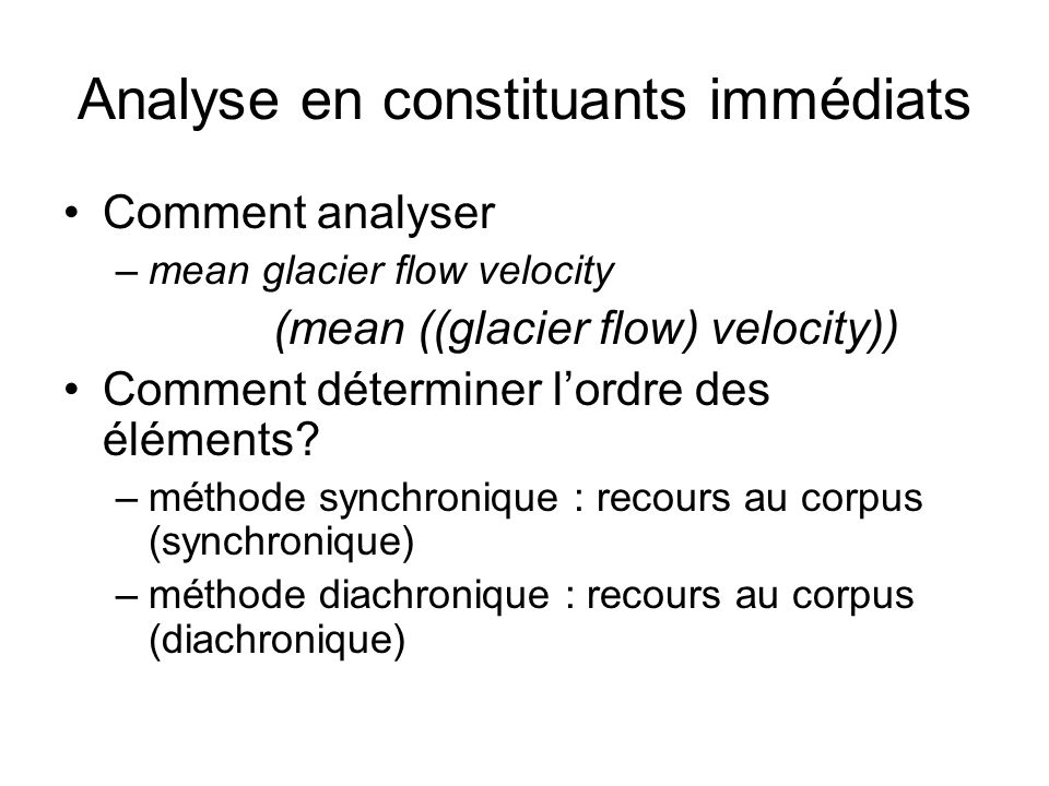 Analyse en constituants immédiats